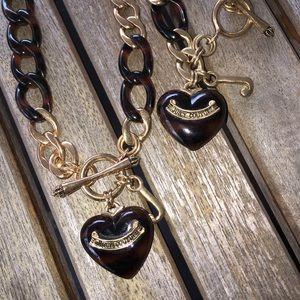 Juicy couture bracelet and necklace set